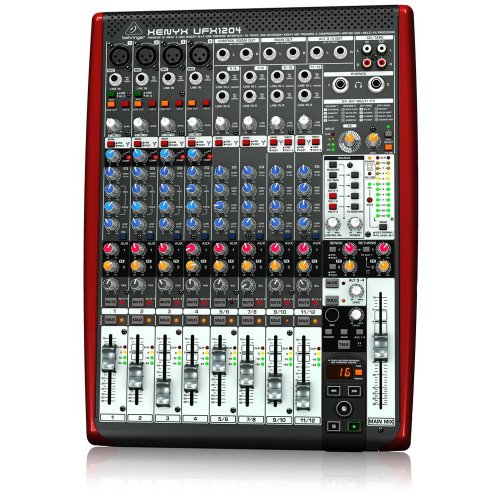 BEHRINGER, UFX1204 Premium 12-Input 4-Bus Mixer with 16X4 Firewire Interface 16-Track USB Recorder Black
