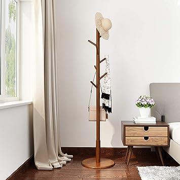 Amazon.com: LANGRIA Rubber Wood Coat Rack Free Standing Hat ...
