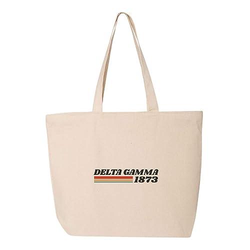 Amazon.com: Delta Gamma - Bolsa de la compra de tela de lona ...