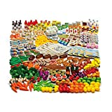 Erzi Pretend Play Wooden Grocery Shop Merchandize Shop Assortment L, 351 Pc