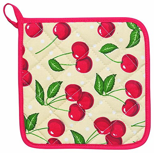 Kitchen Now Designs Potholders Cherries