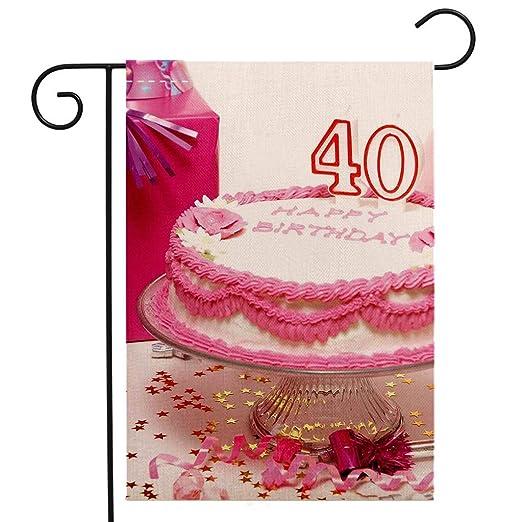 BEIVIVI - Bandera de jardín para decoración de 40 cumpleaños ...