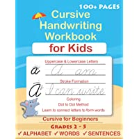 Cursive Handwriting Workbook For Kids: Cursive for beginners workbook. Cursive letter tracing book. Cursive writing…