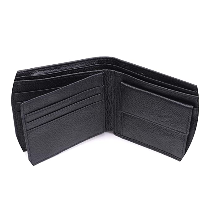 Leather Wallet Men New Purses for men Black Brown Bifold Wallet RFID Blocking Wallets, black at Amazon Womens Clothing store: