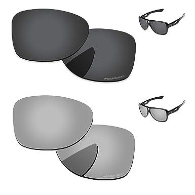 9847ac41edf PapaViva Lenses Replacement for Oakley Dispatch 2 Black Grey   Chrome Silver