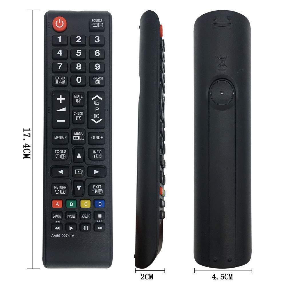 Neue Samsung AA59-00741A Ersatzfernbedienung f/ür LED LCD TV Smart TV ersetzt Samsung TV Fernbedienung BN59-01175N BN59-01199F AA59-00786A AA59-00602A BN59-01247A AA59-00743A