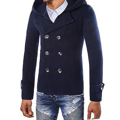 ... Abrigo Largo Abrigo Masculino Chaqueta para Hombre Abrigo de Invierno cálido Botón Largo Outwear Abrigo Elegante Abrigos: Amazon.es: Ropa y accesorios