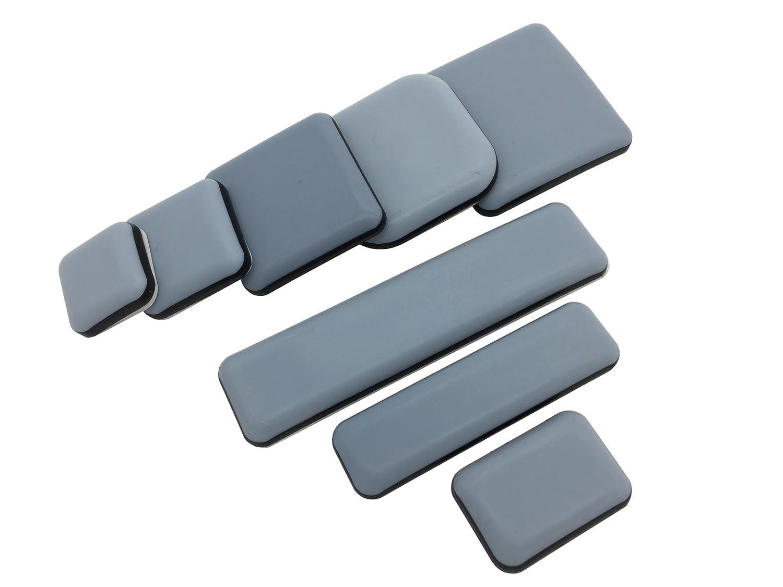 4 Stü ck Teflongleiter selbstklebend verschiende Grö ß en auswä hlbar (45x45 mm) PTFE Gleiter Mö belgleiter Handwerkszeug