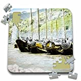 Scenes from the Past Magic Lantern - Vintage Japanese Cormorant Fishing Boats Docked Japan Magic Lantern - 10x10 Inch Puzzle (pzl_246112_2)