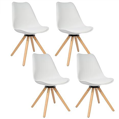 Woltu # 785 4 x sillas de comedor (Juego de 4 sillas de comedor ...