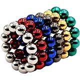 Goolsky 5mm Multicolore Buckyballs NdFeB Boules Magnétiques Magiques Perles Sphères Puzzle Educatif Jouet 72 Pièces