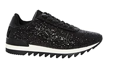 9728f70a9c2 Ladies Womens Trainers Diamante Glitter Lace UP Gym Running Fitness Shoes  Size (UK 8
