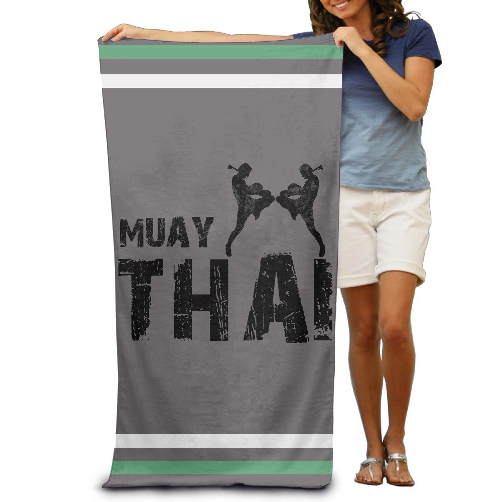 Muay Thai Adults Cotton Beach Towel 31 X 51-Inch by Colofruge