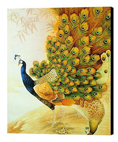 NAN Wind Modern Oil Painting Print Art Animal Painting Peacock Pattern on Canvas Wall Art Peacocks Home Decoration Unframe 20x24inch