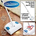 Easy Lightweight Cordless Rechargeable Sweeper for All Surfaces Including Carpet, Tile, Hardwood Floors