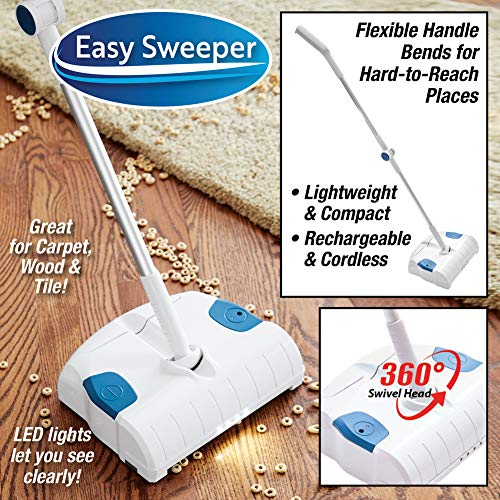 Easy Lightweight Cordless Rechargeable Sweeper for All Surfaces Including Carpet, Tile, Hardwood Floors by Buy From TV (Image #1)