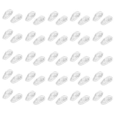 25 pares de almohadillas de silicona para nariz S09 con rosca para gafas de sol: Belleza