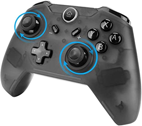 Controlador inalámbrico de Gamepad de Bluetooth Nintendo Switch Pro con Gyro Axis Dual Shock Vibration: Amazon.es: Videojuegos