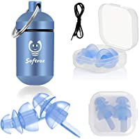 [3 Pairs] Sleeping Ear Plugs, SNR 32dB Noise Reduction Ear Plugs-Ultra Soft Silicone Ear Plugs for Sleeping, Light Sleeper, Work, Read, and Travel with Detachable Cord (Blue)