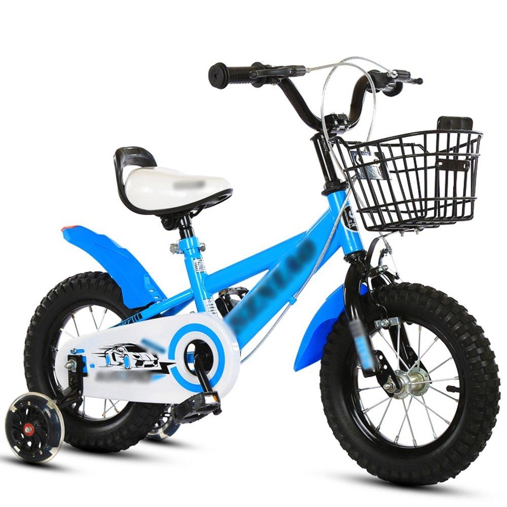 HAIZHEN マウンテンバイク キッズバイク、サイズ16インチ、18インチ、20インチブラック、ブルー、イエローマウンテンバイク 新生児 B07C6R84J5 18 inch|青 青 18 inch