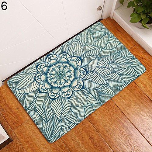 yanQxIzbiu Super Soft Indoor Rugs Living Room Carpets Creative Door Mat Floral Bathroom Floor Rug Non-Slip Doormat Carpet 40x60cm - 6#