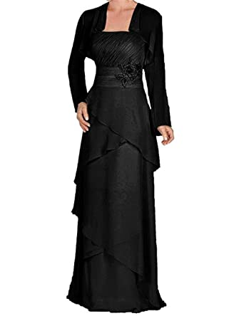 TBB Womens Chiffon Long Mother of The Bride Dresses with Jacket for Wedding(US2,