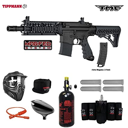 Amazon Com Tippmann Tmc Magfed Elite Hpa Paintball Gun Package