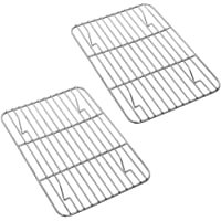 P&P CHEF Baking Rack Pack of 2, Stainless Cooling Rack for Cooking Baking Roasting Grilling Drying, Rectangle 8.6'' x 6…
