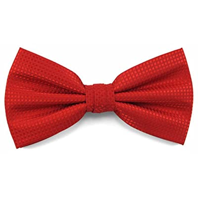 Absolute Stores Boys Red Woven Like Band Bow Tie