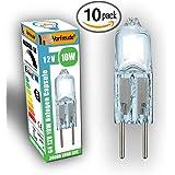 BulbsTM ► █ Bright Idea-Lampadina alogena G4 12 V 10w, confezione da 10 lampadine ► ► 2500 ore, 25% più lunga durata, colore: bianco caldo, dimmerabile, con capsule Eco Watt a risparmio energetico, bulbo trasparente a freddo.