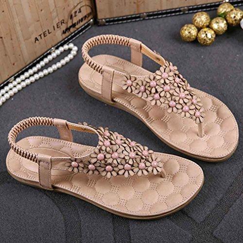 EU Sandali Modo della Donne dei del Slittamento Grande Rosa Chenang Tallone Tallone Scarpe del Piatti di delle 40 Donna Pantofole Spiaggia Sandali delle Infradito Promozione di SnnPxC