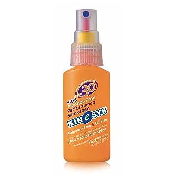 Amazon.com: KINeSYS SPF30 Kids Sunscreen Spray, Alcohol-Free ...