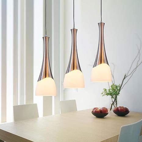 Trio LED lámpara de techo Chrome palo Metal Trailer Realidad ...