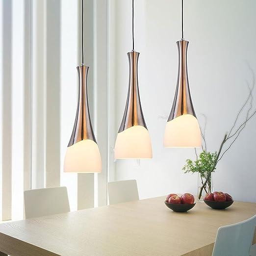 Trio LED lámpara colgante cromo barra Metal remolque ...