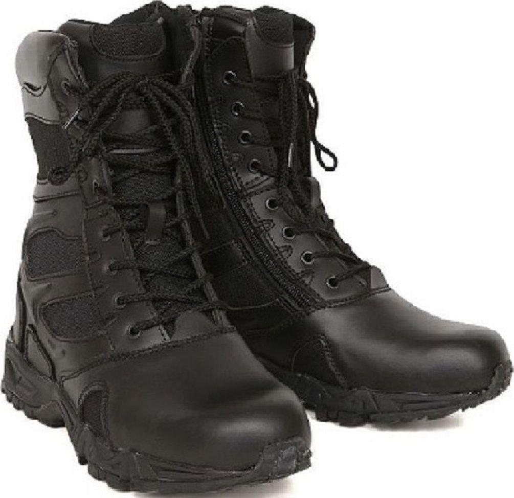 Tactical Boots Moisture Wicking Light Weight Side Zipper Deployment Boots