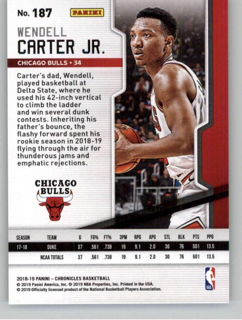 2018-19 Playoff #187 Wendell Carter Jr Chicago Bulls Rookie Basketball Card
