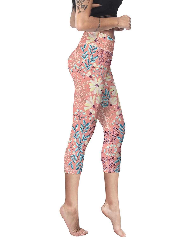 Capri Leggings High Wast Tummy Control Workout Yoga Pant Tights Women