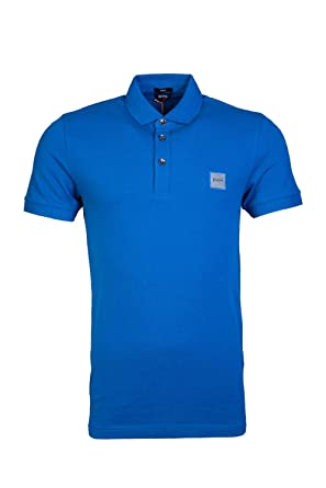2bde27285 Hugo Boss Mens Short Sleeve Polo Shirt Passenger 50378334 Size XL Blue