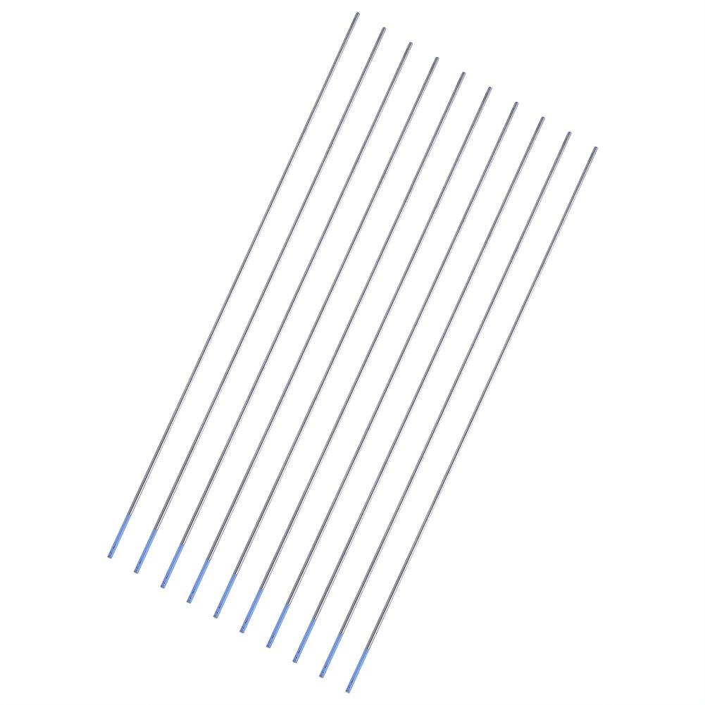 Electrodos de soldadura 1.0 x 150mm 10pcs Electrodos de soldadura de tungsteno Electrodo de Lanthanated Punta azul 1.0//1.6//2.4mm