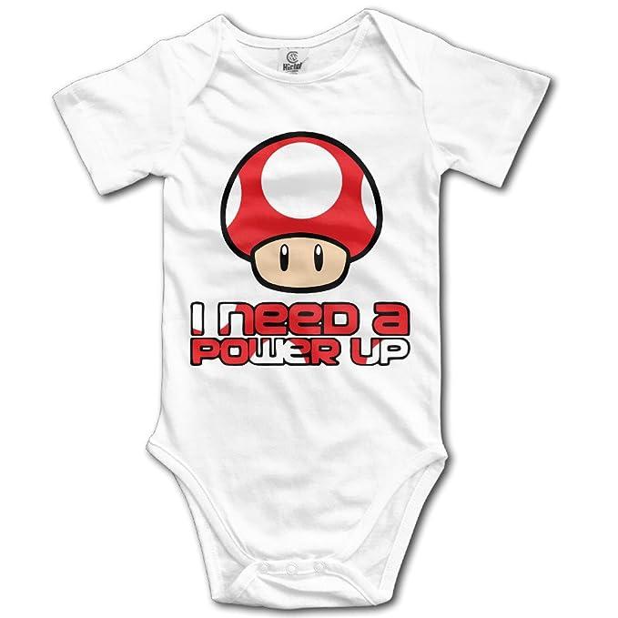42ec02919ada Super Mario Bros- Red Mushroom Power Up Toddler Baby Onesies Clothes ...