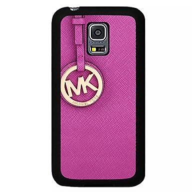 f19093e15345 Pink Michael Kors Logo Phone Case Black Hard Plastic Case Cover For Samsung  Galaxy S5 MINI