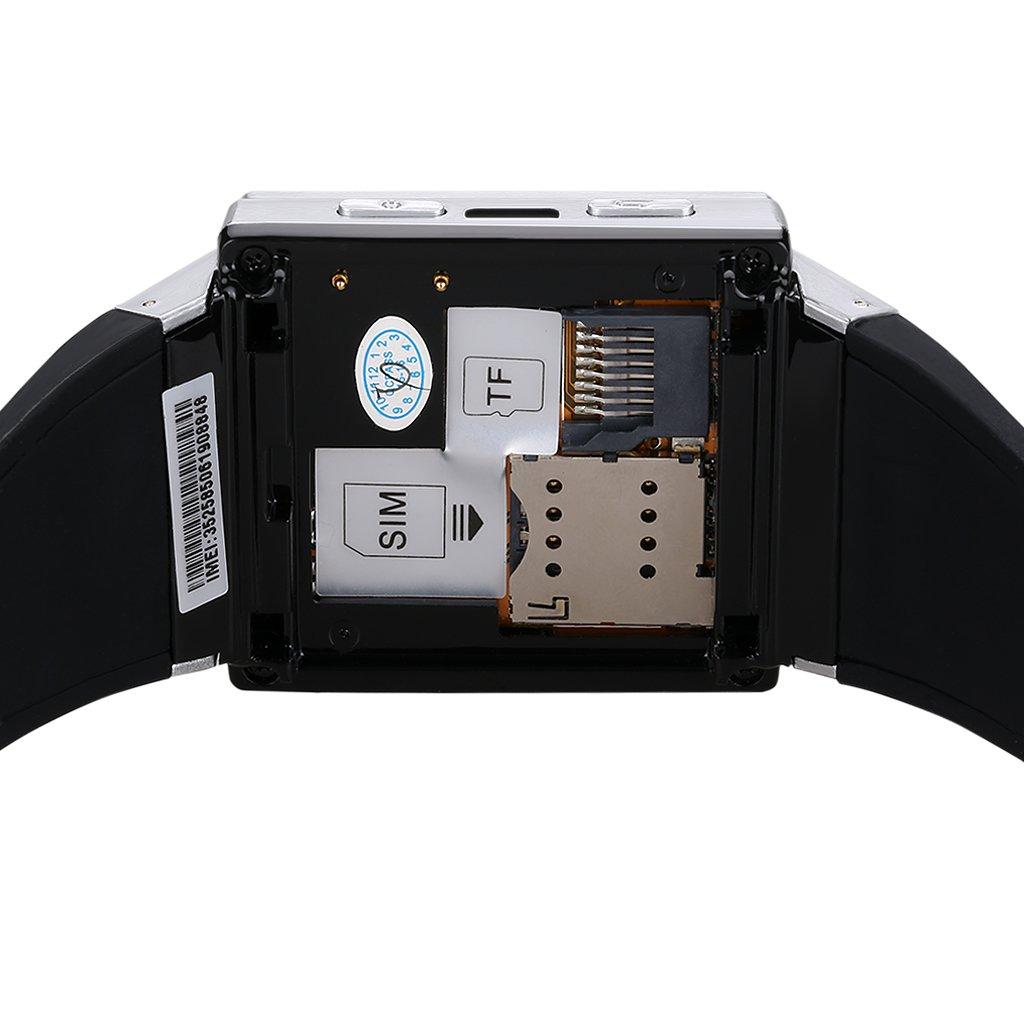 Excelvan S55 - Smartwatch Reloj Móvil Teléfono 3G Android (Dual Core, 2.0Mp Cámara, WCDMA GSM, Email, WIFI, Micrófono), Plateado: Amazon.es: Electrónica