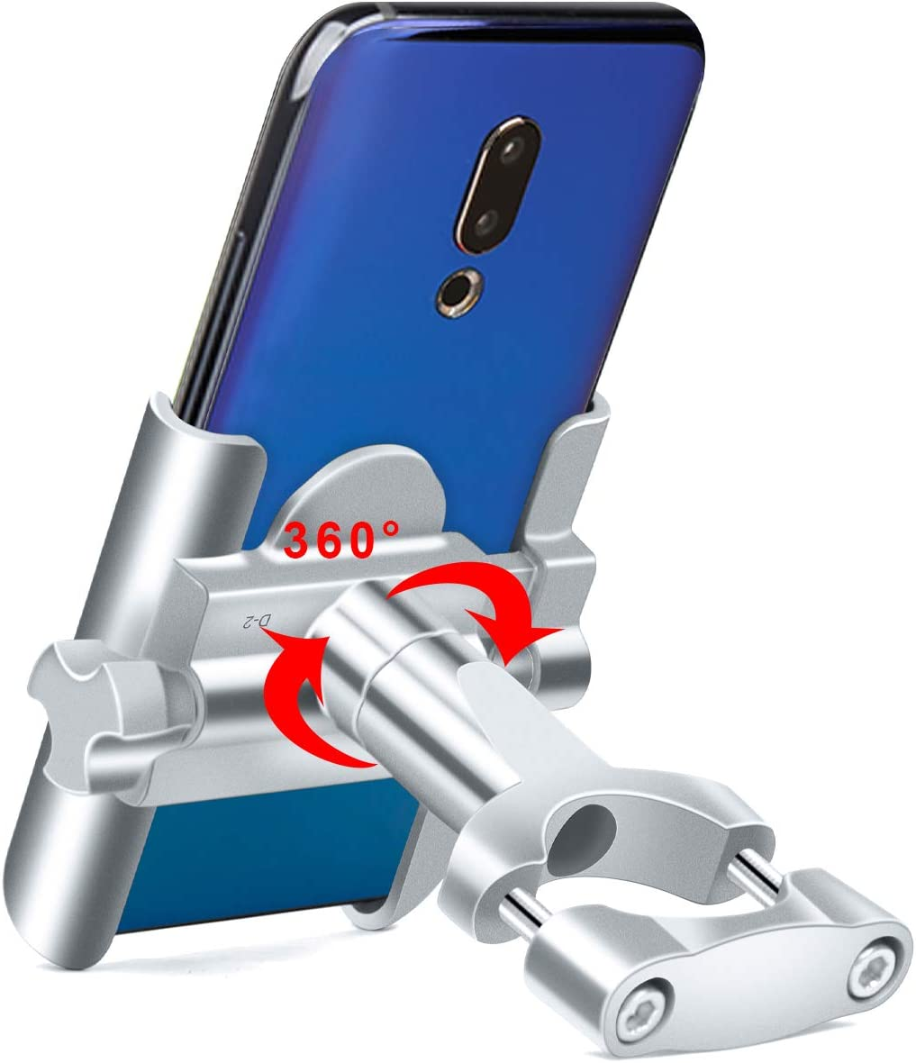 Support de t/él/éphone Portable pour Guidon de v/élo ou Moto en Alliage daluminium