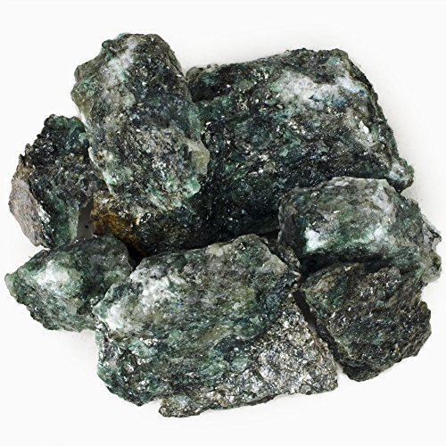 (Hypnotic Gems Materials: 1/2 lb Rare India Emerald Stones in Matrix - Raw Rough Natural Crystals for Cabbing, Tumbling, Lapidary, Polishing, Wire Wrapping, Wicca & Reiki Crystal)