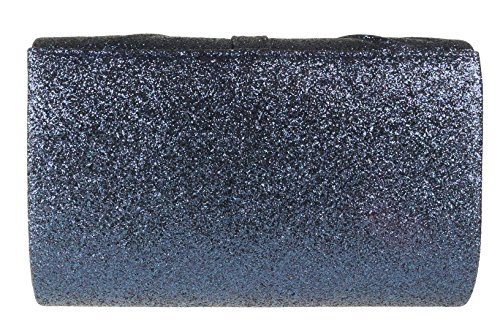 Pleated Bag Clutch HandBags Girly Navy Glitter ngBEwxIf