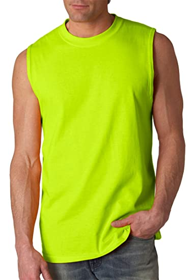 ef707ba91f6b Image Unavailable. Image not available for. Color: Gildan Ultra Cotton  Sleeveless T-Shirt ...