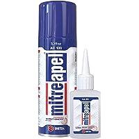 MITREAPEL Super CA Glue (0.90 oz.) with Spray Adhesive Activator (3.30 fl oz.) - Crazy Craft Glue for Wood, Plastic…