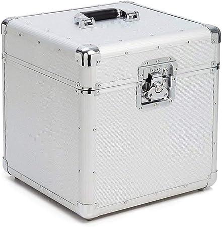 PUCLST Las Cajas Jugador Vinilo de Aluminio de Almacenamiento de Registros Estuche LP Tocadiscos Cajas for Récords Puede Contener hasta 100 (Color : Negro, tamaño : 36X36X35CM): Amazon.es: Hogar