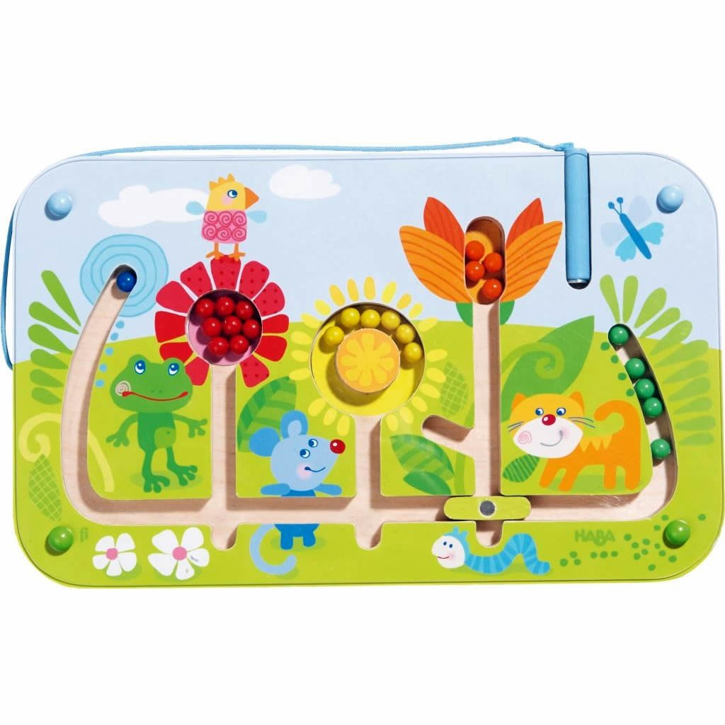 HABA Flower Maze Magnetic Game - STEM Approved Fosters Motor Skills and Assignment of Color Ages 2+ by HABA