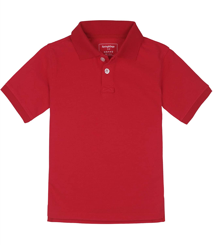 Spring/&Gege Boys Short Sleeve Uniform Pique Polo Shirt